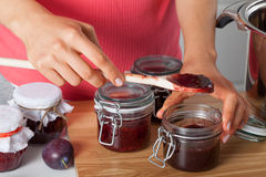 Fresh homemade jam Stock Image