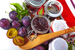 Fresh homemade jams Royalty Free Stock Image