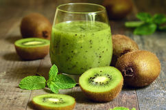 Fresh homemade kiwi juice. stock image
