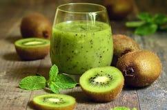 Fresh homemade kiwi juice. Stock Image