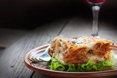 Fresh homemade lasagna Stock Images