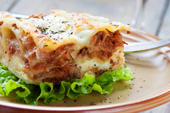 Fresh homemade lasagna Royalty Free Stock Photography