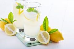 Fresh homemade lemonade in tall glasses Stock Photography