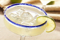 Fresh Homemade Margarita with Lime. On a background Royalty Free Stock Images