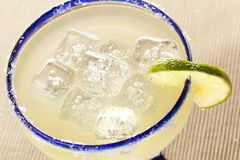 Fresh Homemade Margarita with Lime Royalty Free Stock Photo