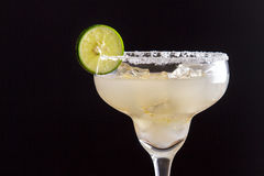 Fresh homemade margarita with lime and salt Stock Image
