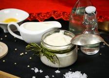 Fresh homemade mayonnaise Royalty Free Stock Photos
