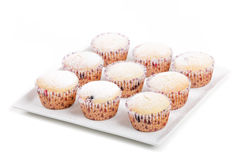 Fresh homemade Muffin on white background Royalty Free Stock Images