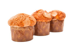 Fresh homemade muffins. Front view Stock Photography