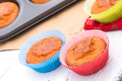 Fresh homemade muffins Stock Images
