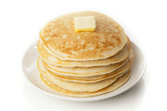 Fresh Homemade Pancakes with Syrup Stock Photos