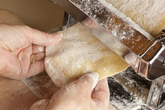 Fresh Homemade Pasta. Against a background Stock Photography