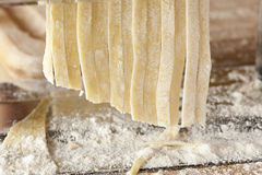 Fresh Homemade Pasta. Against a background Stock Photo