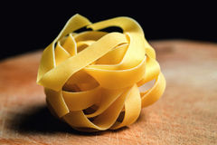 Fresh Homemade Pasta against a background.  Stock Image