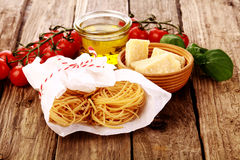 Fresh homemade pasta ingredients Royalty Free Stock Photography