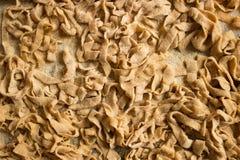 Fresh homemade pasta. Italian tagliatelle Royalty Free Stock Image