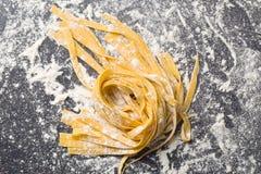 Fresh homemade pasta Stock Images