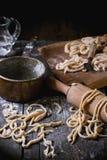 Fresh homemade pasta pici Stock Photos