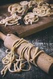 Fresh homemade pasta pici Royalty Free Stock Photo