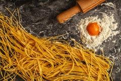 Fresh homemade pasta, spaghetti. Stock Images