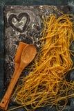 Fresh homemade pasta, spaghetti. Stock Photography
