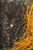 Fresh homemade pasta, spaghetti. Stock Photo