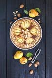 Fresh homemade pear frangipane tart Royalty Free Stock Photo