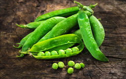 Fresh Homemade Peas Stock Photography
