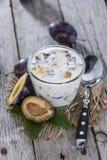 Fresh homemade Plum Yogurt Stock Photo