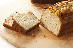Fresh Homemade Poppy Seed Bread Stock Photo