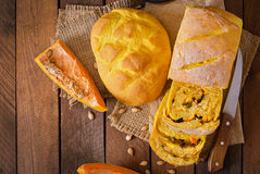 Fresh homemade pumpkin bread Stock Photos