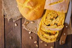 Fresh homemade pumpkin bread Royalty Free Stock Image
