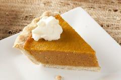 Fresh Homemade Pumpkin Pie stock photography