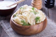 Fresh Homemade Ravioli Stock Photo