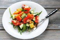 Fresh homemade salad on a plate Stock Image