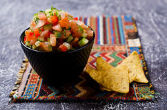 Fresh homemade salsa Stock Photos