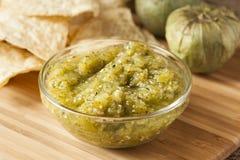 Fresh Homemade Salsa Verde Stock Photos