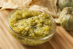 Fresh Homemade Salsa Verde Royalty Free Stock Photography