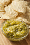 Fresh Homemade Salsa Verde Stock Image