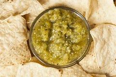 Fresh Homemade Salsa Verde Stock Image