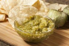 Fresh Homemade Salsa Verde Stock Images