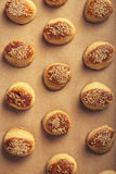Fresh homemade salty scones with cheese and sesame Royalty Free Stock Photography