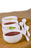 Fresh homemade sauces Royalty Free Stock Image