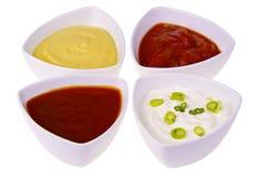 Fresh homemade sauces Stock Photo