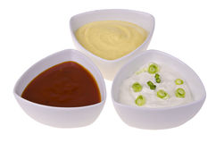 Fresh homemade sauces Stock Image