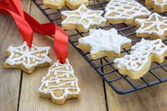 Fresh homemade shortbread cookies Royalty Free Stock Photo
