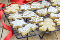 Fresh homemade shortbread cookies Stock Photo