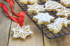 Fresh homemade shortbread cookies Royalty Free Stock Photo