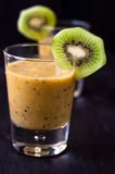 Fresh homemade smoothie with kiwi and banana Stock Images