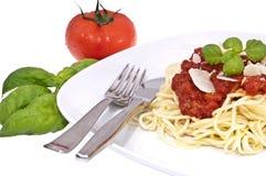 Fresh homemade spaghetti Royalty Free Stock Photo
